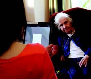 PainChek App being used at the Heathfield Residential Care Home