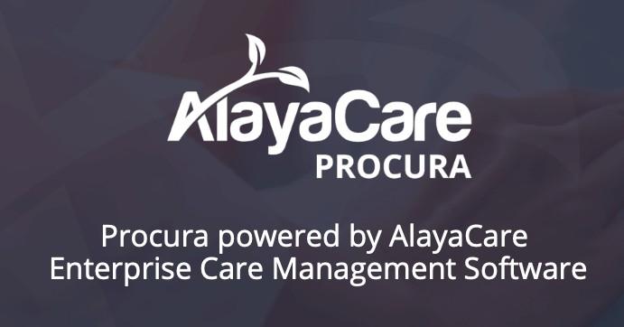 AlayaCare & Procura Logo with tag line Procura powered by AlayaCare Enterprise Care Management Software