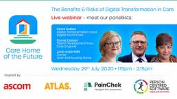 The Benefits & Risks of Digital Transformation in Care webinar banner